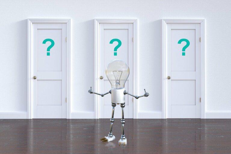 3 Türen zur Auswahl